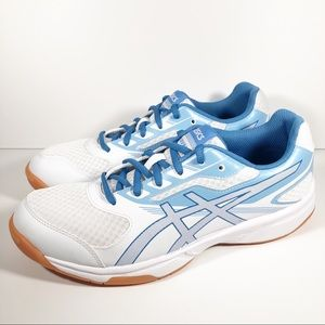 NEW Asics Upcourt 2 Sneakers - White & Blue